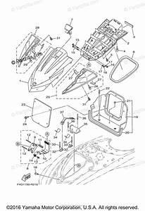 Yamaha Waverunner 2016 Oem Parts Diagram For Engine Hatch