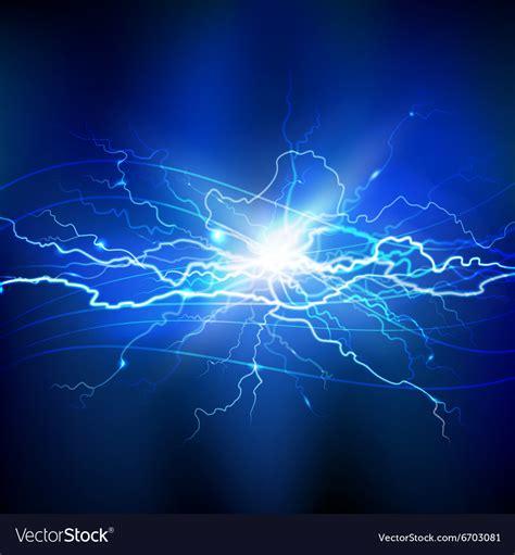 blue lightning background royalty free vector image