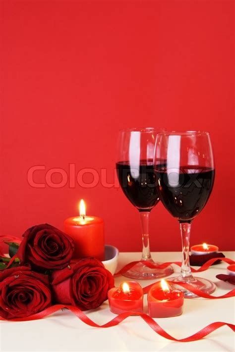 romantic candlelight dinner   lovers concept