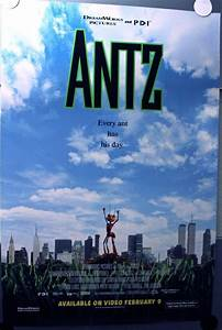Fb Backgrounds Antz 1998 Video Poster Gene Hackman Animation Wtc