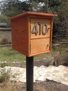 Custom Made Modern Mailbox by Hill Haus Woodworks