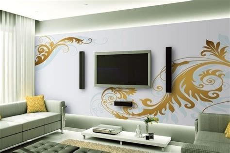 Decorative ideas for living room TV wall