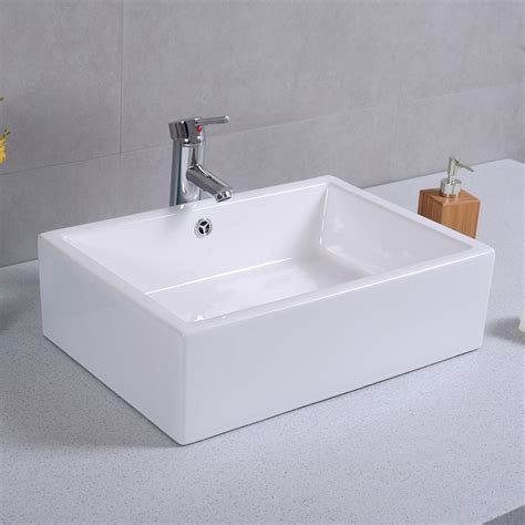 Rectangle Bathroom Sink by 20 Quot Ceramic Bathroom Sink Rectangle Vessel Bath Deck Mount