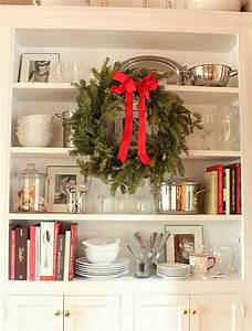 dining-room-cabinet-at-Christmas - Hooked on Houses
