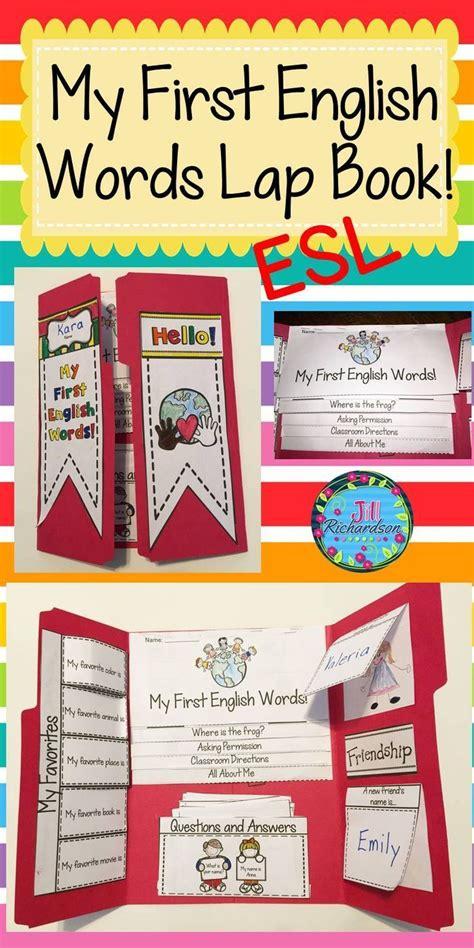 esl beginners   english words lap book ell