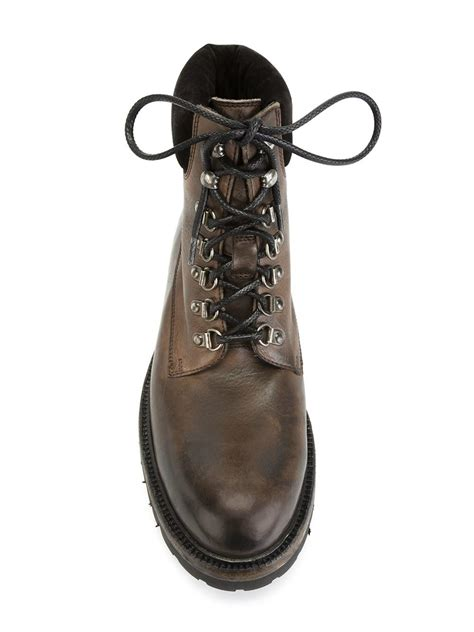 boots dg 26 dolce gabbana hiking boots in brown for lyst
