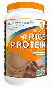 Growing Naturals Organic Rice Protein Powder  Chocolate  33 6 Ounce