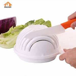 Nicpay Salad Cutter Bowl - Cooking Gizmos