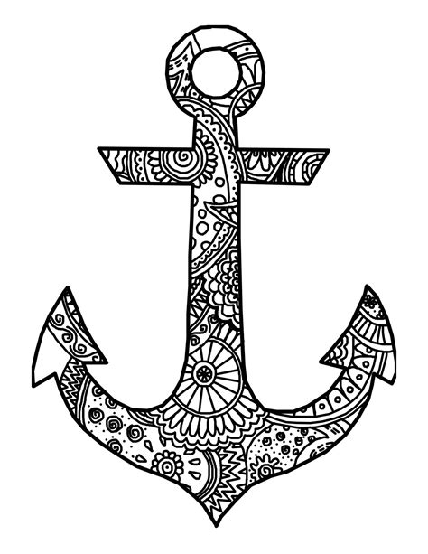 anchor template simple anchor coloring pages