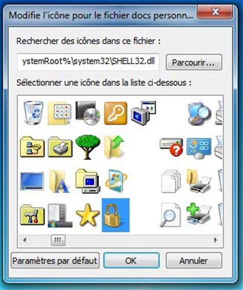 icones bureau windows 7 changer l 39 apparence de l 39 icône d 39 un dossier sous windows 7