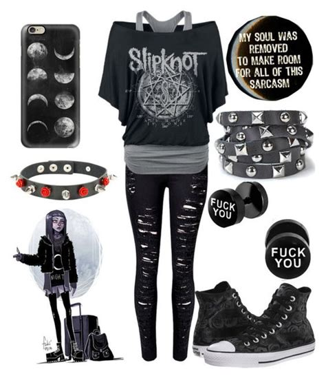 Sarcastic Emo B!tch by the-uninportant-emo on Polyvore featuring polyvore fashion style WithChic ...