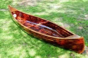Cedar Wood Strip Canoe