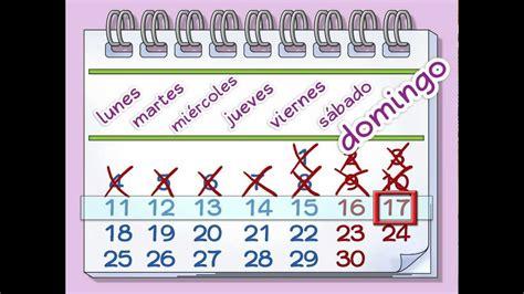 learn  days   week la semana calico spanish