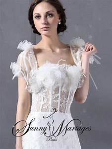 Robe De Mariée Originale : robe de mariee originale avec bustier plumes d 39 autruches ~ Nature-et-papiers.com Idées de Décoration