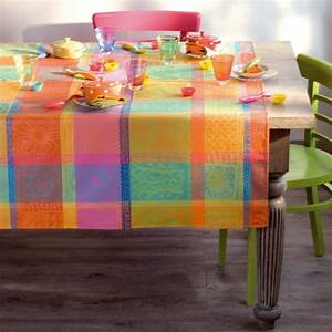 Tissu Enduit Pour Nappe : nappe de table multicolore fantaisie nappes haut de gamme ~ Teatrodelosmanantiales.com Idées de Décoration