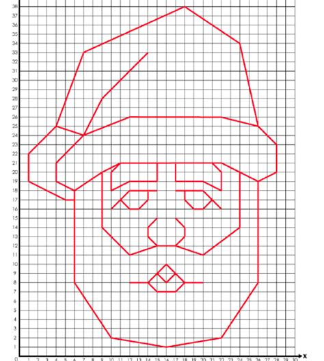 santa coordinate graphing activity from super teacher