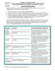 descriptive words for retail resume great descriptive words for resumes sles of resumes
