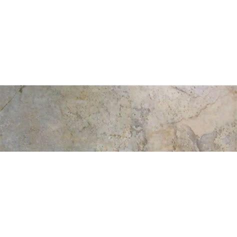 bullnose tile lowes shop style selections camelot gold glazed porcelain bullnose tile common 3 in x 12 in actual