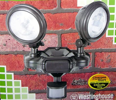 solar motion sensor detector security flood lights new