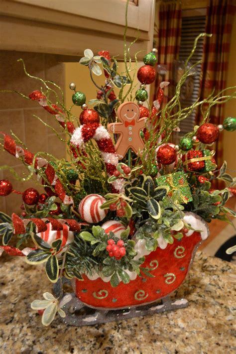 Weihnachtsdekoration Schlitten by Candyland Sleigh Arrangement Arrangements