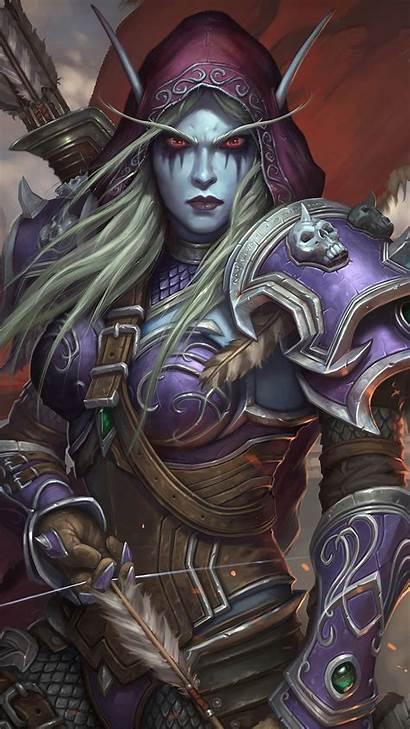 Sylvanas 4k Windrunner Wow Warcraft Hearthstone Hero