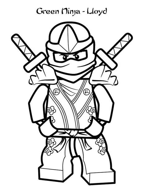 ninjago green ninja lloyd lego coloring page coloring sky