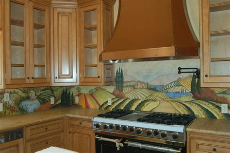 painted tiles for kitchen backsplash kitchen counter with painted tile backsplash yelp