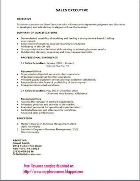fresh and free resume sles for customer