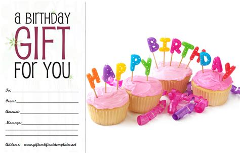 Birthday Gift Certificate Template by Birthday Gift Certificate Template