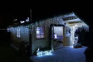 Weihnachtsbeleuchtung Außen Balkon : lichterkette eisregen kaltwei ~ Michelbontemps.com Haus und Dekorationen