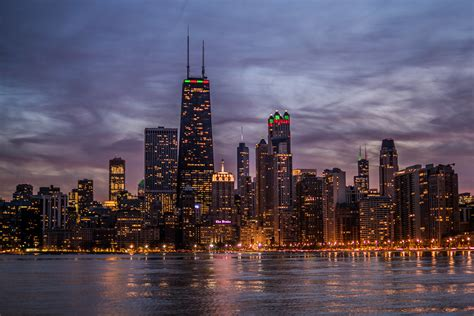 Free Chicago Photo by Chicago Skyline Sunset Chicago Il November 22nd 2017