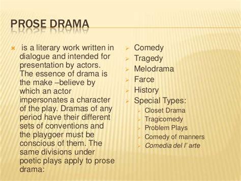 Closet Drama Definition by Prose