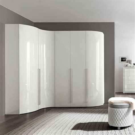 bianca high gloss curved  door wardrobe   interiors