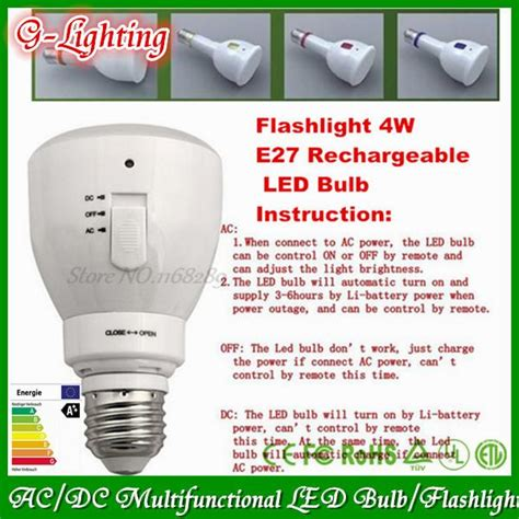 remote dimmable e27 led bulb rechargeable 5w ac dc