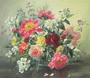 Flowers Of Romantic June Painting by Albert Williams