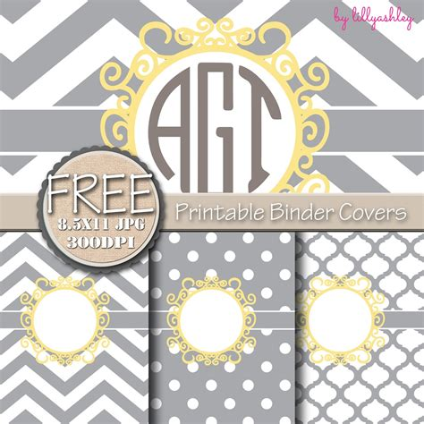 downloadable binder cover