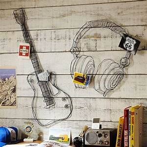 aliexpresscom buy metal wire guitar wall decor art With wire letters wall decor