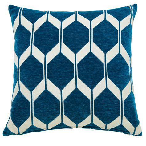coussin motifs bleu canard 45x45cm aston maisons du monde