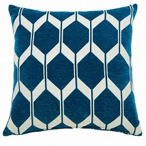 coussin motifs bleu canard 45x45cm aston maisons du monde With tapis design avec housse canapé bleu canard