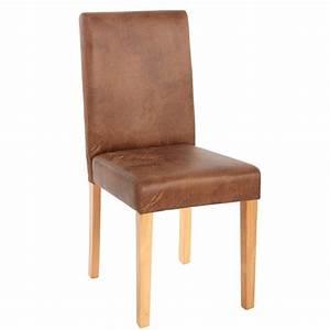 chaises lot de 6 chaises en textile couleur daim pieds With salle À manger contemporaineavec chaise couleur pied bois