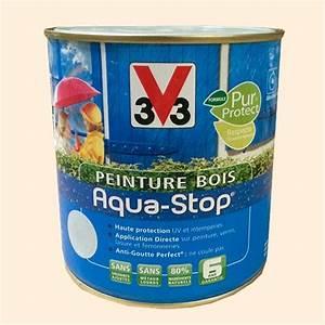 Blanc Cassé Peinture : peinture v33 bois aqua stop satin 2 5l pas cher en ligne ~ Melissatoandfro.com Idées de Décoration