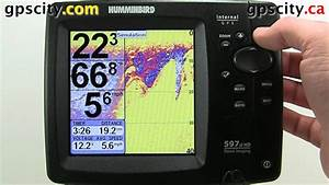 The View Setup Menu In A Humminbird 597cihd Gps With Gps