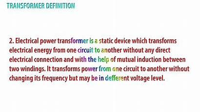 Transformer Electrical Definition Engineering Define Basic Current