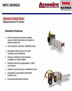 15 Kw Breakered Heat Strip For Arcoaire Air Handlers Fcv  Fcp  Fcx  Ef Wfc1502b