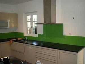 Crédence Cuisine Verre : credence cuisine en verre maison design ~ Premium-room.com Idées de Décoration