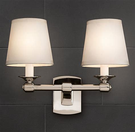 caign double sconce bath sconces restoration hardware