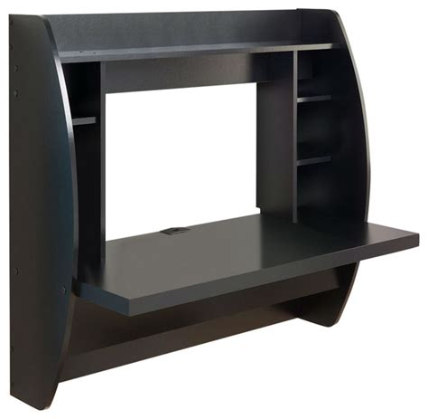 black wall mounted desk modern space saving wall mounted floating laptop desk