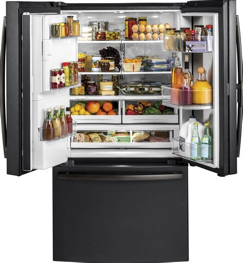 gfdgelds ge   cu ft french door refrigerator door  door black slate