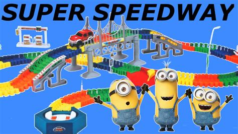 monster truck race track toy minions super snap speedway racetrack monster truck racing