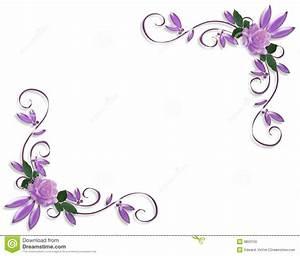 Corner Flower Clip Art Purple Lavender – Cliparts